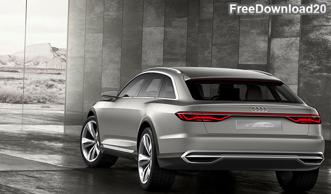 Audi A6 Prologue 2017 Back